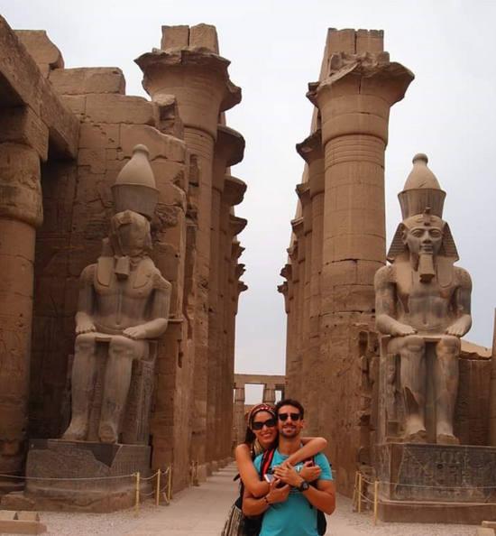 Miriam y Jaime en su viaje por Egipto