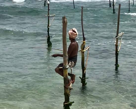 Viaje a Sri Lanka de Malena y Víctor, pesca tradicional.