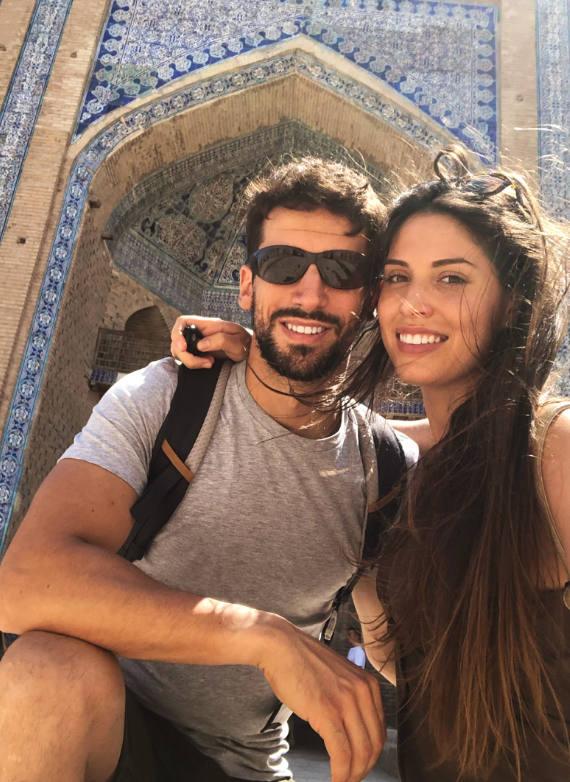 Miriam y Jaime en Uzbekistan